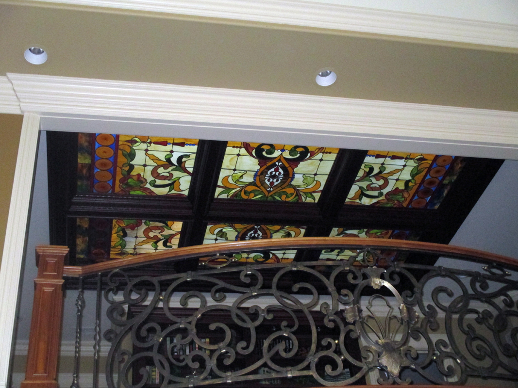 Custom Interior Antique Design Stained Glass Skylights | Sheri Law Art Glass Homer Glen, IL