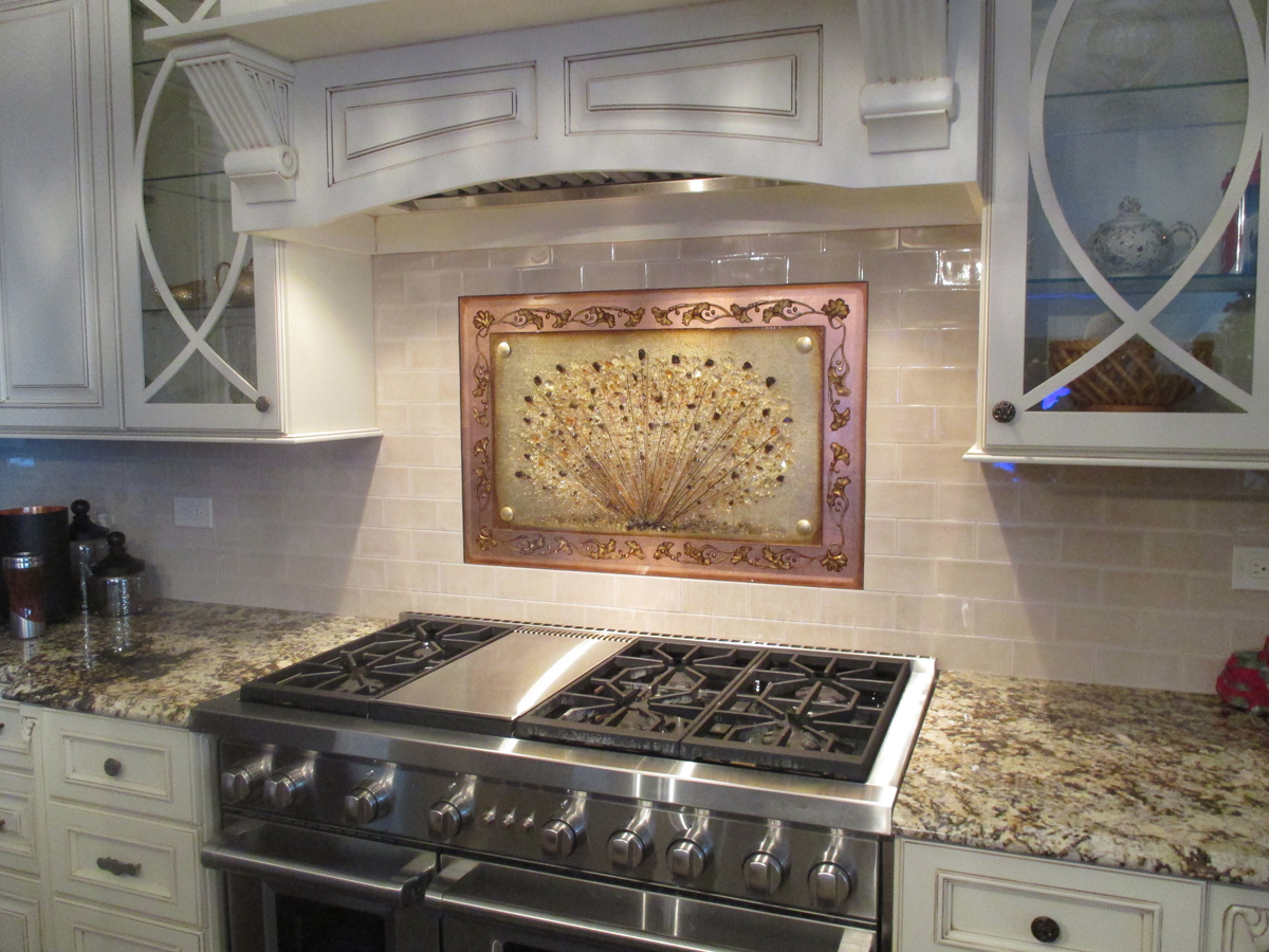 Fused Glass Kitchen Backsplash