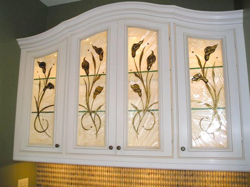 Art Glass Cabinet Door Inserts Wilmette Il Sheri Law Art Glass