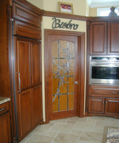 Interior Stained Glass Bistro Door | Sheri Law Art Glass Homer Glen, IL