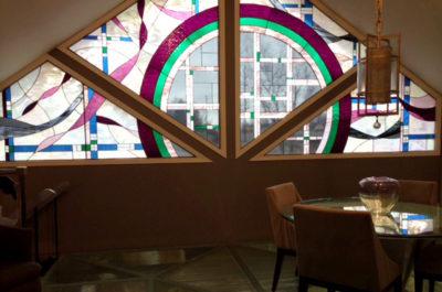 Sheri Law Stained Glass Floor  Homer Glen, Illinois