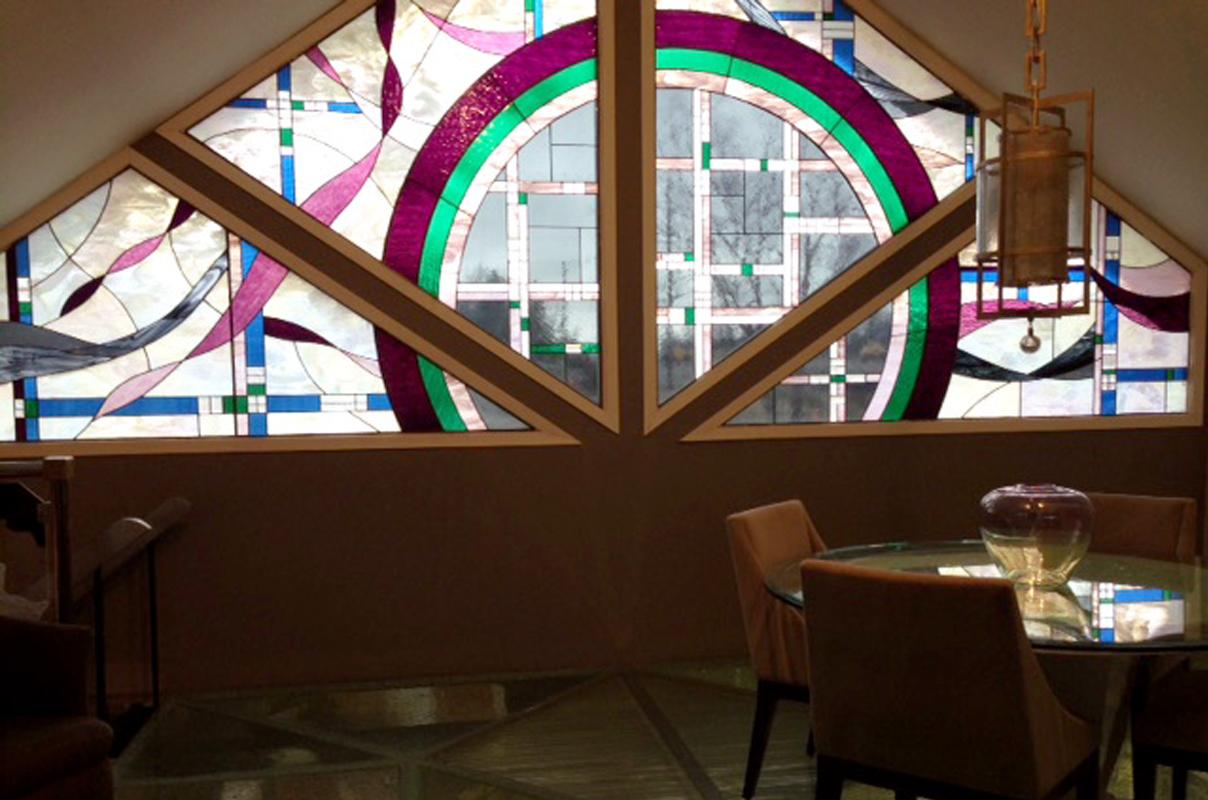 Sheri Law Stained Glass Floor| Homer Glen, Illinois